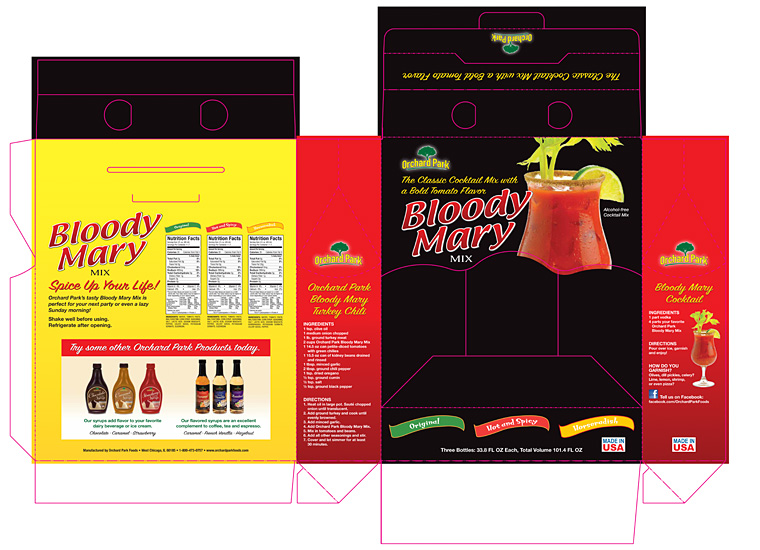 Gary Cole Design - Bloody Mary Mix Packaging