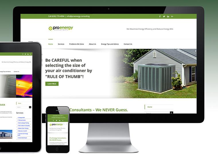 Gary Cole Design - Pro Energy Consultants Website