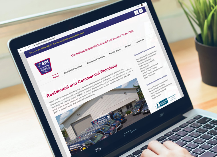 Gary Cole Design - Enterprise Plumbing Website