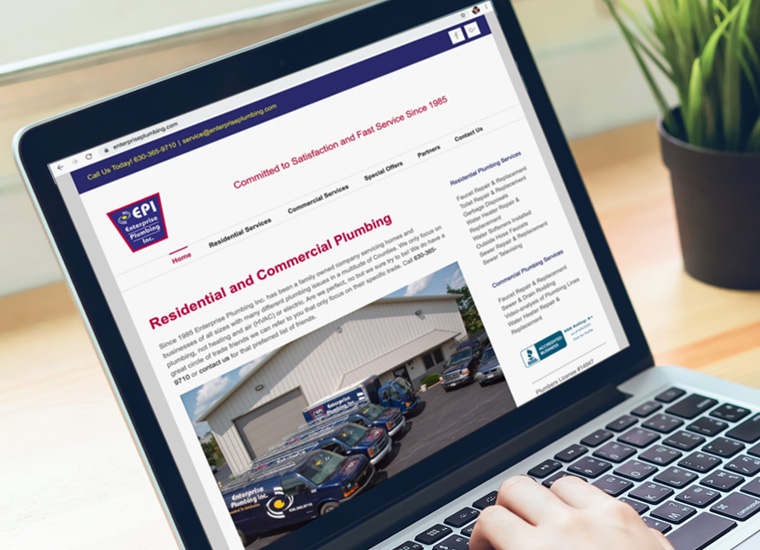 Gary Cole Design - Enterprise Plumbing Website